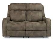 Flexsteel Power Reclining Loveseat with Power Headrest