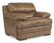 Flexsteel Dylan Leather Chair Without Nailhead Trim