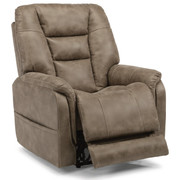 Flexsteel Theo Fabric Power Recliner with Power Headreast and Lumbar