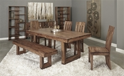 Coast to Coast Brownstone Dining Collection - Table, 4 Chairs, & Bench