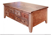 International Furniture Direct Antique Collection Multi Drawer Cocktail Table