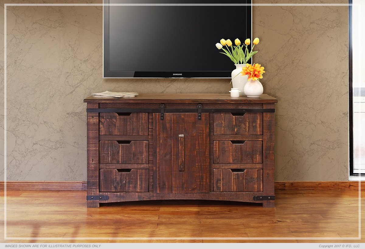 International Furniture Direct Pueblo Collection 60 Tv Stand