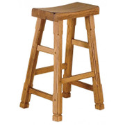"Sunny Designs 30""H Sedona Saddle Seat Stool w/ Wood Seat"