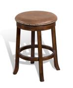 "24""H Santa Fe Swivel Stool w/ Cushion Seat"