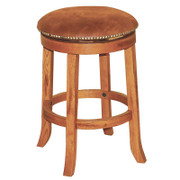 "Sunny Designs 24""H Sedona Swivel Stool w/ Cushion Seat"