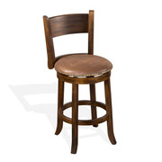 "Sunny Designs 24""H Santa Fe Swivel Barstool w/ Cushion Seat"