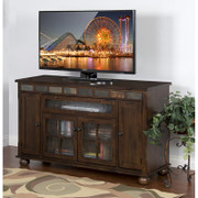 Sunny Designs Oxford Counter Height TV Console in Dark Oak