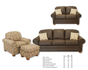 Best Craft Sofa 7601 in Rustic