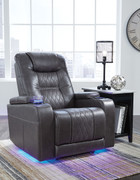 Ashley Composer Gray Power Recliner/Adjustable Headrest