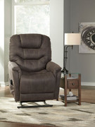 Ashley Ballister Gunmetal Power Lift Recliner
