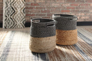 Ashley Parrish Natural/Black Basket Set (2/CN)