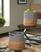 Ashley Parrish Natural/Blue Basket Set (2/CN)