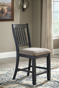 Ashley Tyler Creek Black/Gray Upholstered Barstool (2/CN)