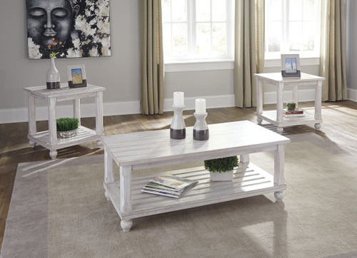Ashley Cloudhurst White Occasional Table Set 3 Cn On