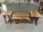 Amish Black Walnut Occasional Tables