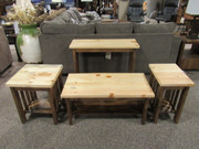 Amish Two-Toned Pine Occasional tables