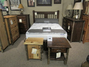 Amish Solid Hickory or Rough Sawn Oak Bedroom Set