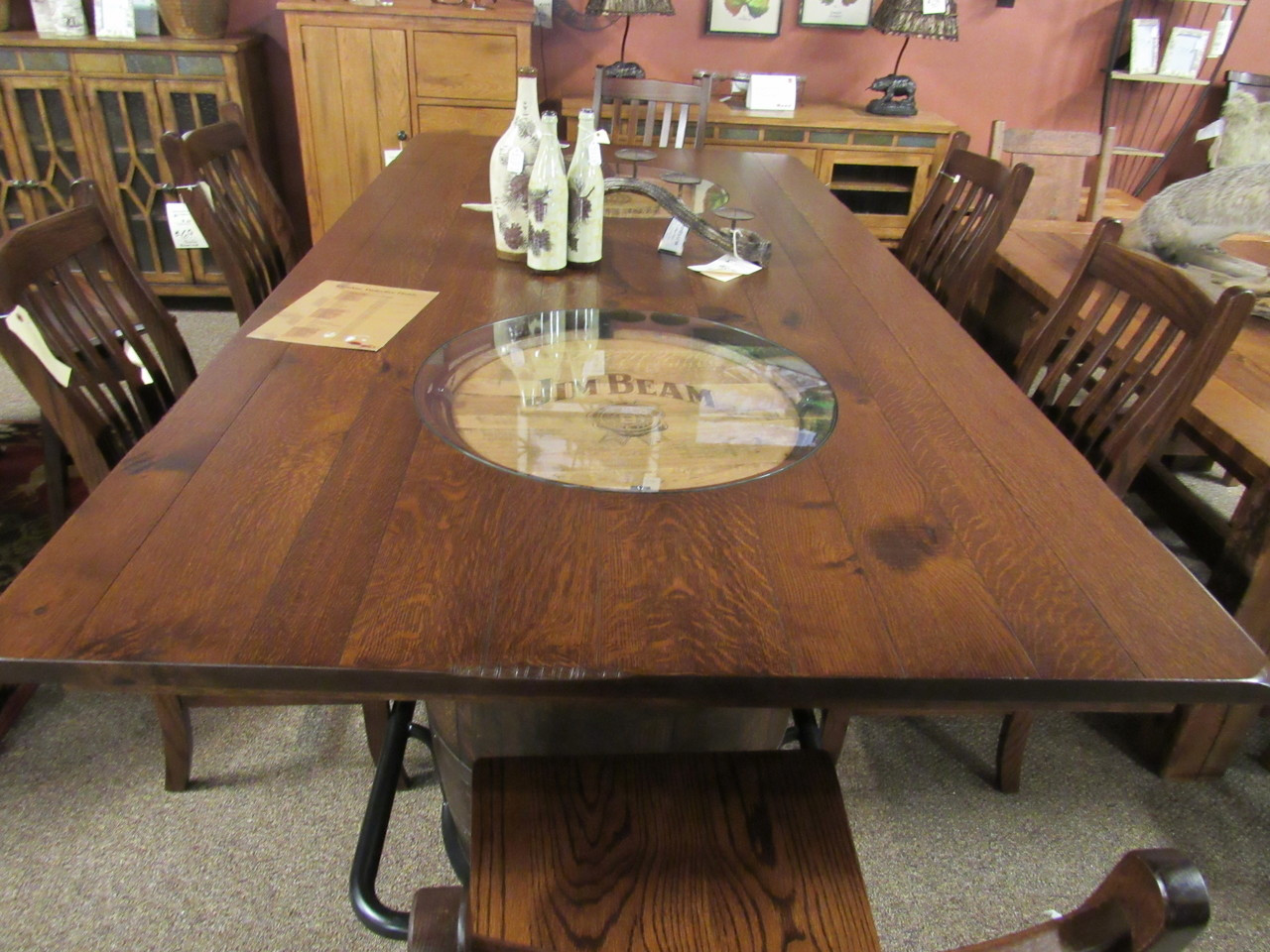 Amish Double Barrell Jim Beam Dining Set on sale at ...