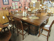 Amish Double Barrell Jim Beam Dining Set