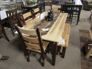 Amish Dutch Style Hickory Dining Set