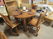 Amish Pub Height Barnwood Dining Set