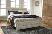 Ashley Bellaby Whitewash King Panel Storage Bed