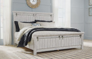 Brashland White King Panel Bed