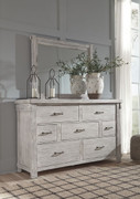 Ashley Brashland White Dresser & Mirror