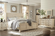 Ashley Bolanburg Two-tone 8 Pc.King Louvered Bedroom Collection