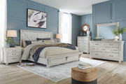 Ashley Brashland White 7 Pc. Dresser, Mirror, King Panel Bed & 2 Nightstands