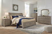 Ashley Lettner Light Gray 8 Pc. Dresser, Mirror, Chest, King Sleigh Bed & 2 Nightstands