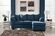 Ashley Darcy Blue Sofa/Couch Chaise