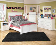 Ashley Bostwick Shoals White 5 Pc. Dresser, Mirror & Full Panel Bed