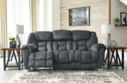 Ashley Capehorn Granite Reclining Sofa/Couch