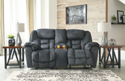 Ashley Capehorn Granite Double Rec Loveseat with Console
