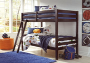 Ashley Halanton Dark Brown Twin/Twin Bunk Bed w/Ladder