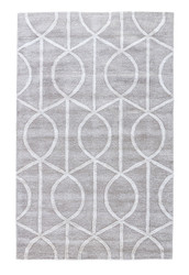 """9'6"""" x 13'6"""" Area Rug Rectangle Gray White City Seattle CT14 Handmade Hand-Tufted"""
