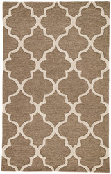 """3'6"""" x 5'6"""" Area Rug Rectangle Brown White City Miami CT20 Handmade Hand-Tufted Moroccan"""