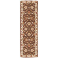 "2'6"" x 10' Area Rug Runner Brown Gold Mythos Maia MY01 Handmade Hand-Tufted Traditional"