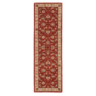 "2'6"" x 10' Area Rug Runner Red Gold Mythos Selene MY04 Handmade Hand-Tufted Traditional"