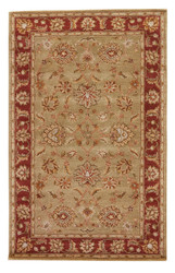 3' x 12' Area Rug Runner Taupe Red Mythos Anthea MY05 Handmade Hand-Tufted Traditional