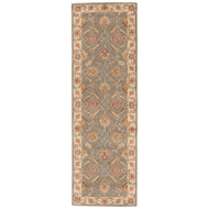"2'6"" x 8' Area Rug Runner Green Beige Mythos Callisto MY06 Handmade Hand-Tufted"