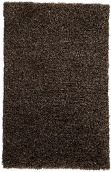 2' x 3' Area Rug Rectangle Black Brown Nadia ND04 Machine Made Shag and flokati