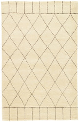 5' x 8' Area Rug Rectangle Ivory Brown Nostalgia Tangier NS02 Handmade Hand-Knotted