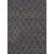 2' x 3' Area Rug Rectangle Gray White Nostalgia Casablanca NS03 Handmade Hand-Knotted
