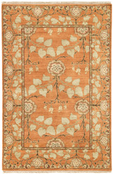 8' x 10' Area Rug Rectangle Orange Gray Opus Tree Of Life OP10 Handmade Hand-Knotted