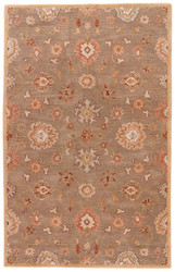 """9'6"""" x 13'6"""" Area Rug Rectangle Brown Multicolor Poeme Nantes PM14 Handmade Hand-Tufted"""