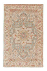 2' x 3' Area Rug Rectangle Beige Blue Poeme Orleans PM50 Handmade Hand-Tufted