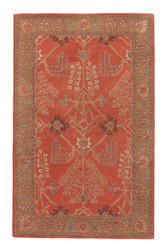 2' x 3' Area Rug Rectangle Orange Brown Poeme Chambery PM51 Handmade Hand-Tufted