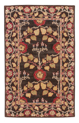 2' x 3' Area Rug Rectangle Brown Multicolor Poeme Rodez PM58 Handmade Hand-Tufted